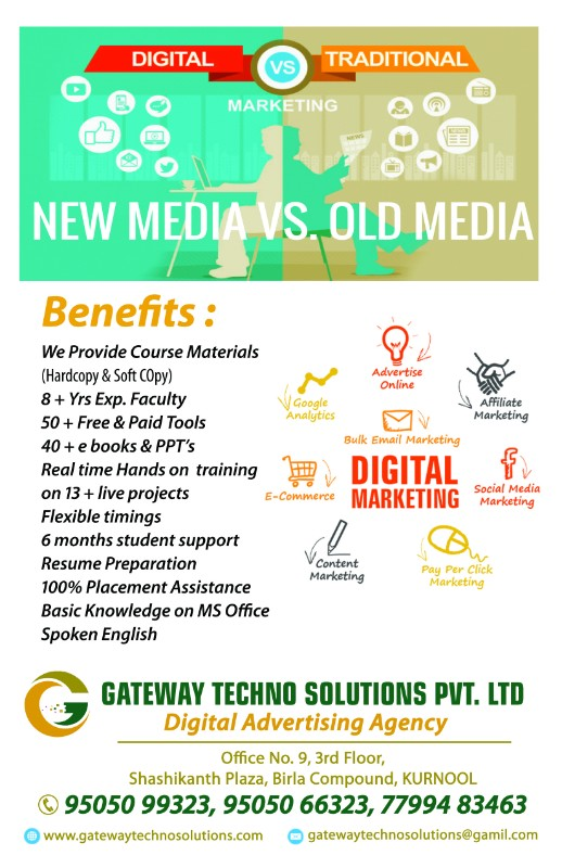 Gateway Techno Solutions in kurnool || Digital Marketing Training and Digital Marketing Services Kurnool